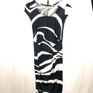 FEMME zebra print slinky dress